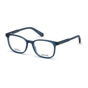 Óculos Armação Guess GU1974 091 Azul Translucido Masculino