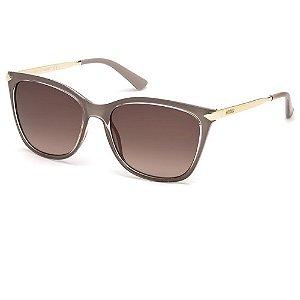 Óculos Solar Guess GU7483 57F Nude Translucido Feminino