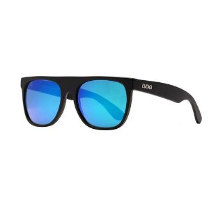 Óculos Solar Evoke Haze BR02 Preto Fosco Lente Azul Espelhad