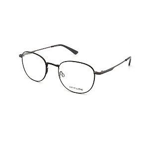 Óculos Armação Atitude AT2087 09A Preto Metal Feminino