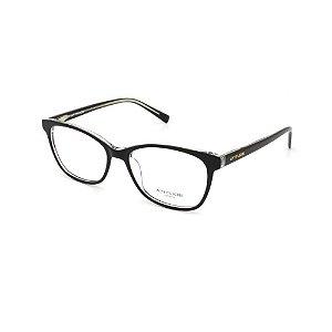 Óculos Armação Atitude AT7115 A01 Preto Acetato Feminino