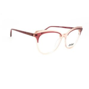 Óculos Armação Evoke For You DX101 C1 Rosa Translucido Fosco