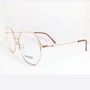 Óculos Armação Blue Macaw 9404 C04 Metal Dourado Feminino