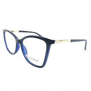 Óculos Armação Blue Macaw Br99078 C3 Azul Acetato Feminino
