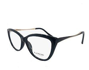 Óculos Armação Blue Macaw M119 @123 Preto Acetato Feminino