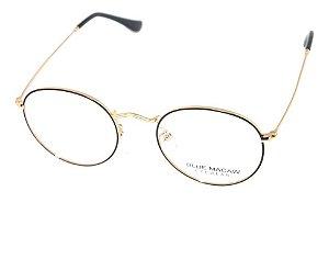 Óculos Armação Blue Macaw 5950 C2 Redondo Dourado Feminino