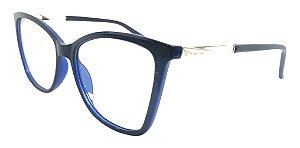 Óculos Armação Blue Macaw Gatinho Azul Feminino Premium