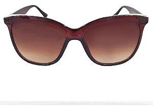 Óculos Solar Blue Macaw M55 @234 Marrom Translucido Feminino