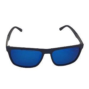Óculos Solar Blue Macaw P7226 C5 Preto Lente Espelhada Azul