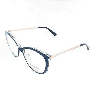 Óculos Armação Blue Macaw BR5633 TR90 Azul Acetato Feminino