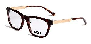 Óculos De Grau Evoke Volt 03 G21 Marrom Mesclado Dourado