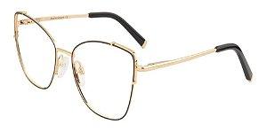 Óculos Armação Ana Hickmann Ah1396n 09a Dourado Com Preto