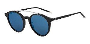 Óculos De Sol Hickmann Hi9047 A01 Preto / Azul Espelhado