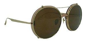 Óculos De Sol Hickmann Hic3010b 04a Dourado /marrom