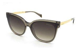 Óculos De Sol Hickmann Hi9082 T02 Cinza  Translucido Brilho