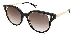 Óculos De Sol Hickmann Hi9073 A01 Preto Brilho Marrom