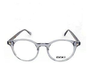 Óculos Armação Evoke Evk Rx53 H01 Cinza Translucido Redondo