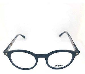 Óculos Armação Evoke Evk Rx53 A01 Redondo Unissex Preto