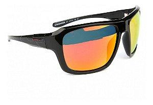 Óculos De Sol Speedo Stronger A01 Preto Lente Espelhada