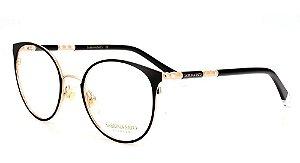 Óculos Armação Sabrina Sato Ss690 C1 Feminino Preto Dourado