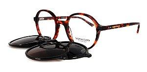 Óculos Armação Sabrina Sato Ss167 C2 Clip On Redondo Demi