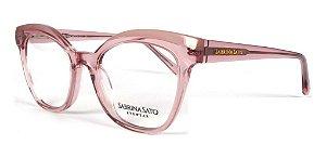 Óculos Armação Sabrina Sato Ss164 C2 Translucido Rosa Claro