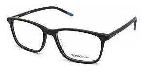 Óculos Armação Speedo Sp7025 A01 Preto Fosco Com Azul