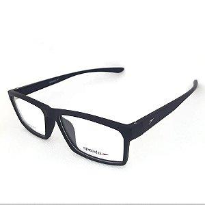 Óculos Armação Speedo SP7050I A01 Retangular Preto Fosco