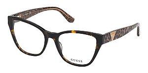 Óculos Armação Guess Gu2828 052 Tartaruga Acetato Feminino