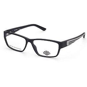 Óculos Armação Harley-Davidson HD0854 002 Preto Masculino