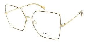 Óculos Armação Hickmann Hi1071 01b Quadrado Grande Dourado