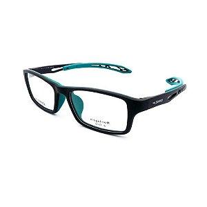 Óculos Armação Speedo SPK4008N H02 Preto com Verde Acetato