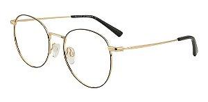 Óculos Armação Bulget Bg1665tn 09a Dourado Com Preto Metal