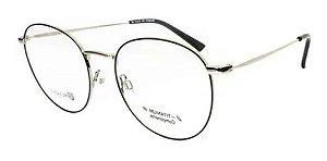 Óculos Armação Bulget Bg1665tn 05a Prata Com Preto Metal