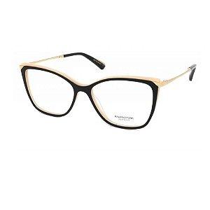 Óculos Armação Ana Hickmann AH6414N A01Preto com Nude