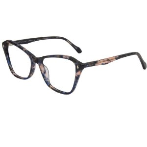 Óculos Armação Bulget BG7128 G25 Azul Tartaruga Feminino