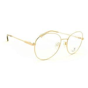 Óculos Armação Bulget BG2052 04A Feminino Redondo Dourado