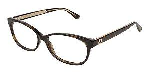 Óculos De Grau Gucci Gg0309o 002 Marrom Mesclado