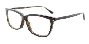 Óculos De Grau Gucci Gg0042oa 002 Marrom Mesclado