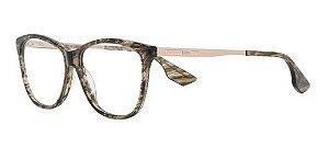 Óculos De Grau Mcq Mq0088o 004 Marrom Marmorizado Dourado