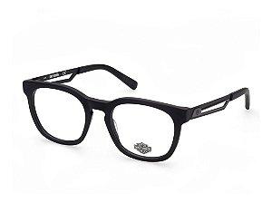 Óculos Armação Harley-davidson Hd0857 002  Preto Masculino
