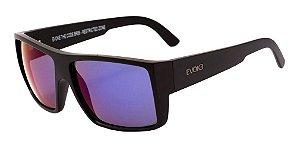 Óculos De Sol Evoke Br06 The Code Preto Lente Azul Espelhada