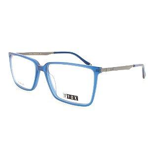 Óculos Armação Fox248 C3 Masculino Azul Haste de Titanium