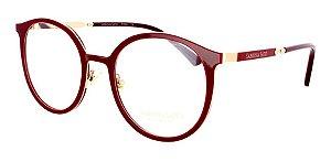 Óculos Armação Sabrina Satoss540 C3  Vermelho Dourado