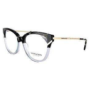Óculos Armação Sabrina Sato SS109C4 Cinza Mesclado Feminino