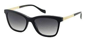 Óculos De Sol Ana Hickmann Ah9266 A01 Preto Cinza Degradê
