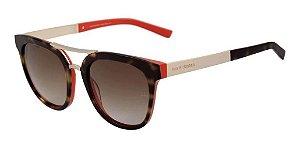 Óculos De Sol Ana Hickmann Ah9197 G22 Tartaruga E Laranja