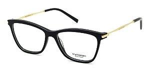 Óculos Armação Ana Hickmann Ah6254 A01 Preto  Feminino