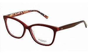 Óculos Armação Ana Hickmann Ah6257 H01 Vermelho  Feminino