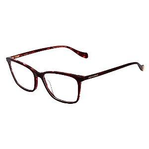 Óculos Armação Ana Hickmann AH6339 H02 Vermelho Mesclado